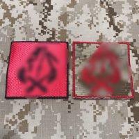 MADE IN USA  実物 DEVGRU レッドチーム刺繍パッチ 2枚セット(4)